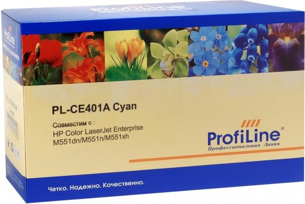 Картридж совместимый ProfiLine CE401A Cyan для HP