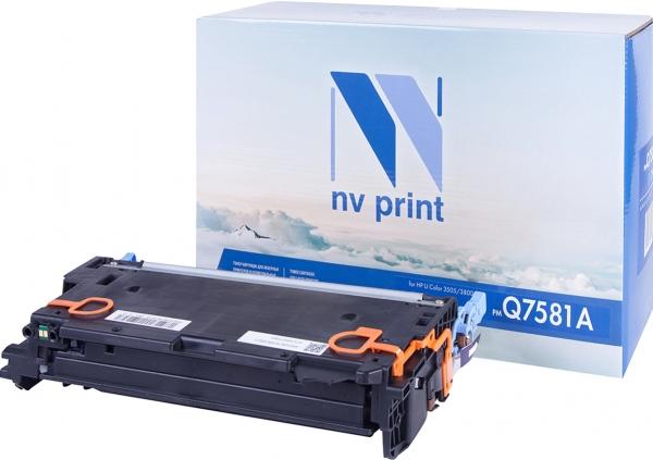 Картридж совместимый NVPrint Q7581A для HP голубой