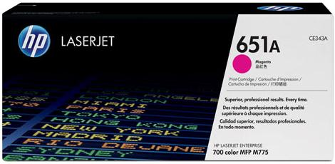 Картридж HP CE343A пурпурный оригинальный