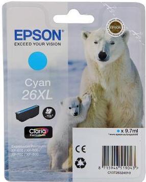 Картридж EPSON C13T26324010 голубой оригинальный