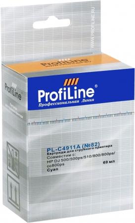 Картридж совместимый ProfiLine C4911A №82 для HP голубой