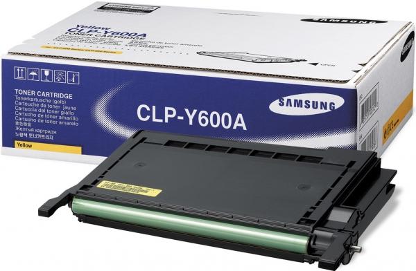 Тонер-картридж Samsung CLP-Y600A желтый (оригинальный)