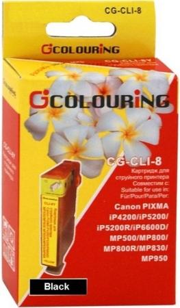 Картридж совместимый Colouring CLI-8BK для Canon с чипом