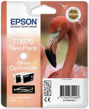 Картридж EPSON T08704010 оптимизатор глянца двойная упаковка оригинальный