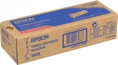 Тонер-картридж EPSON C13S050628 пурпурный оригинальный