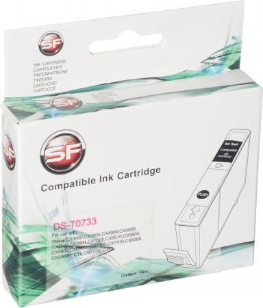 Картридж совместимый SuperFine T0733 пурпурный для Epson