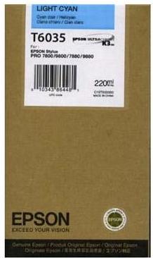 Картридж EPSON T6035 (C13T603500) светло-голубой оригинальный