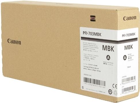 Картридж CANON PFI-703MBK черный матовый оригинальный