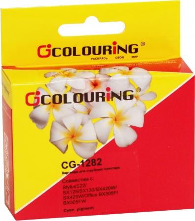 Картридж совместимый Colouring 1282 для Epson голубой
