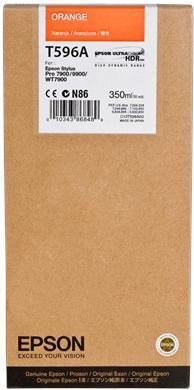 Картридж EPSON C13T596A00 оранжевый оригинальный