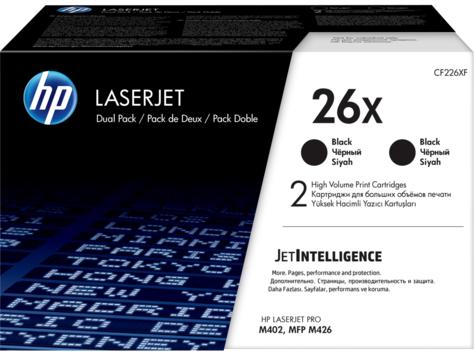 Картридж для HP CF226XF (26X) черный двойная упаковка оригинальный