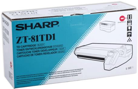 Тонер-картридж SHARP ZT-81TD1 черный оригинальный
