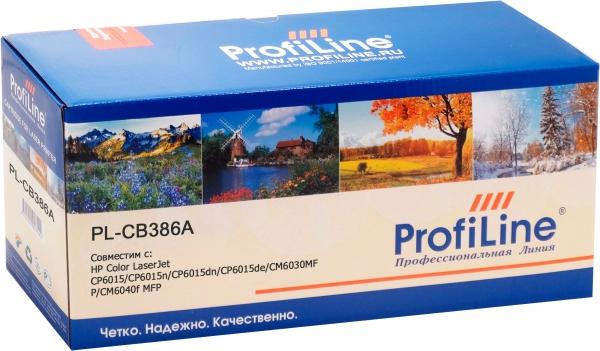 Картридж совместимый ProfiLine CB386A для HP желтый
