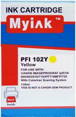 Картридж совместимый MyInk PFI-102Y желтый для CANON
