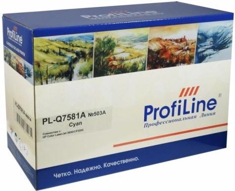 Картридж совместимый ProfiLine Q7581A голубой для HP