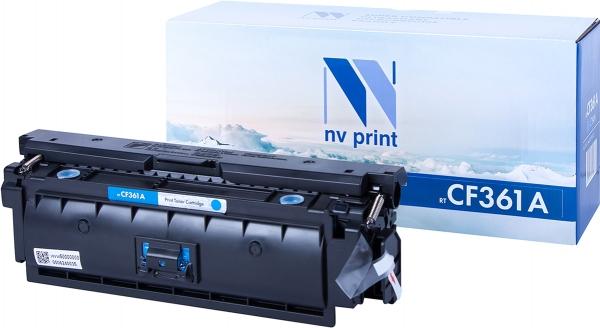 Картридж совместимый NVPrint CF361A для НР голубой