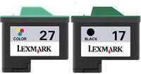 Картриджи Lexmark №17 и №27 Комплект из двух картриджей цветной и черный оригинальный