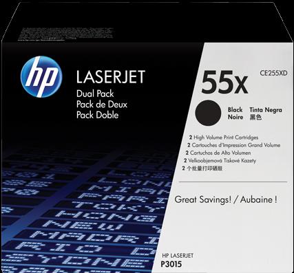 Картридж HP CE255X черный двойная упаковка оригинальный
