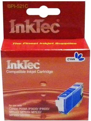 Картридж совместимый InkTec 521 С синий для Canon