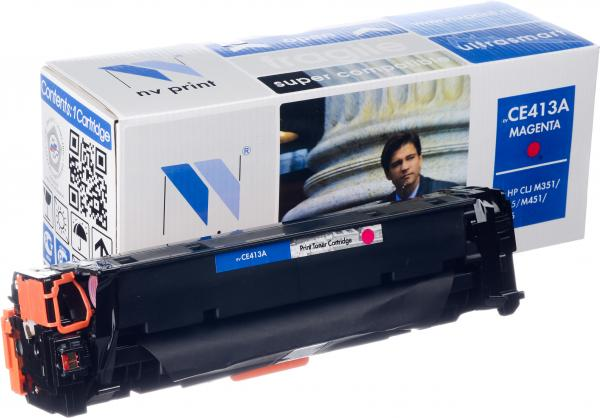 Картридж совместимый NV Print CE413A пурпурный для HP