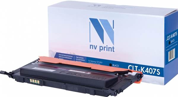 Картридж совместимый NVPrint CLT-K407S для Samsung черный