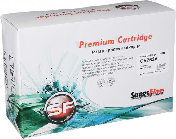Картридж совместимый SuperFine CE262A желтый для HP