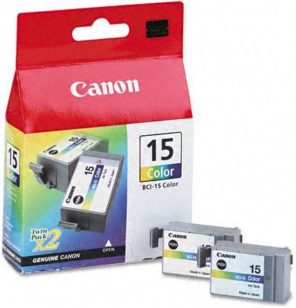 Картридж CANON BCI-15 трехцветный, двойная упаковка оригинальный