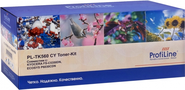 Тонер-кит Kyocera TK-560C Cyan ProfiLine (совместимый)