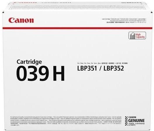 Тонер-картридж Canon 039H BK черный оригинальный
