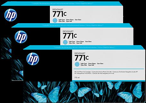 Картридж HP B6Y36A светло-голубой оригинальный тройная упаковка