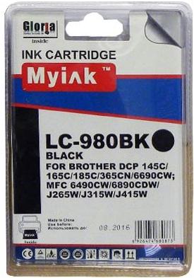 Картридж совместимый MyInk LC980BK черный для Brother
