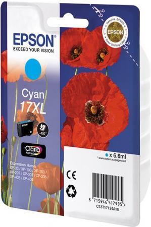 Картридж EPSON C13T17124A10 голубой оригинальный