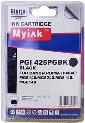 Картридж совместимый MyInk PGI-425PGBK черный для Canon