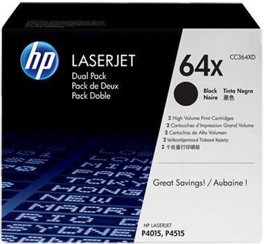 Картридж HP CC364XD черный двойная упаковка оригинальный