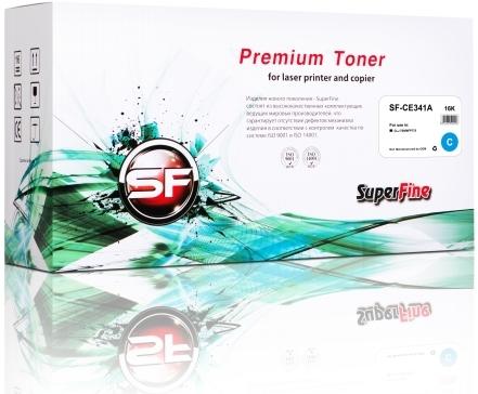 Картридж совместимый SuperFine CE341A голубой для HP