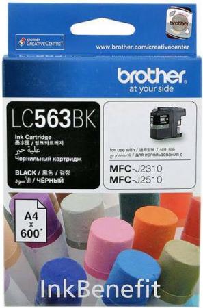 Картридж Brother LC563BK черный оригинальный