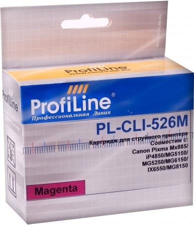 Картридж совместимый ProfiLine CLI-526M для Canon пурпурный с чипом