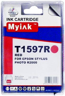 Картридж совместимый MyInk T1597 красный для Epson