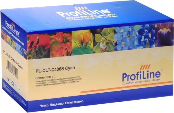 Картридж совместимый ProfiLine CLT-C406S Cyan для Samsung