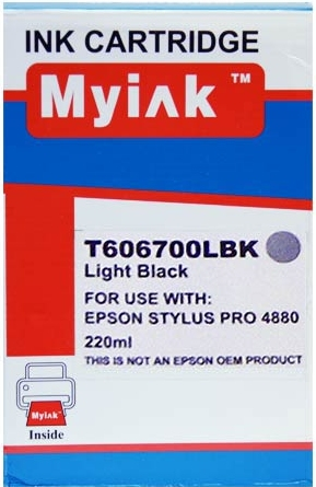 Картридж совместимый MyInk T6067 серый для Epson