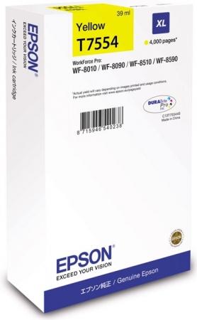 Картридж Epson T7554 (C13T755440) желтый оригинальный