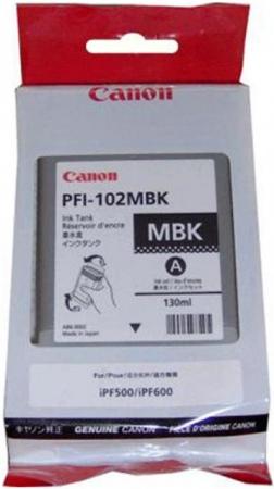 Картридж Canon PFI-102MBK матовый черный оригинальный