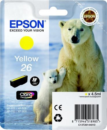 Картридж EPSON T26144010 желтый оригинальный