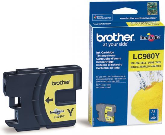 Картридж Brother LC980Y желтый оригинальный