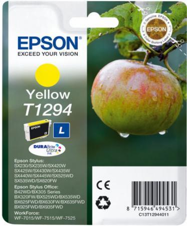 Картридж EPSON T12944010 желтый оригинальный