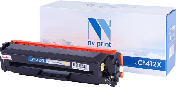 Картридж совместимый NVP CF412X желтый для HP