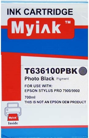 Картридж совместимый MyInk T6361 черный для Epson