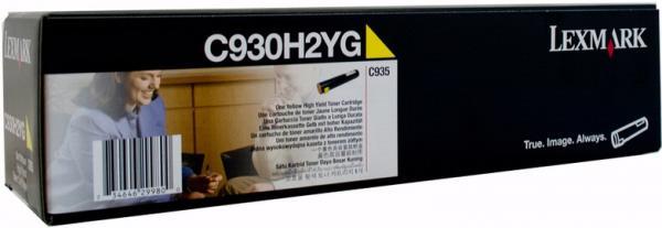 Картридж Lexmark C930H2YG желтый оригинал