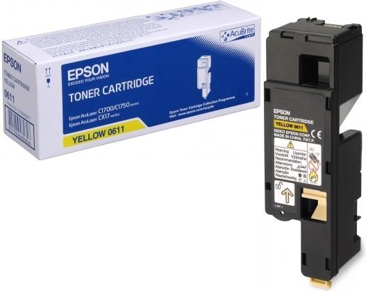 Картридж EPSON C13S050611 желтый оригинальный