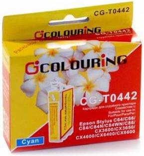 Картридж совместимый Colouring 0442 для Epson голубой